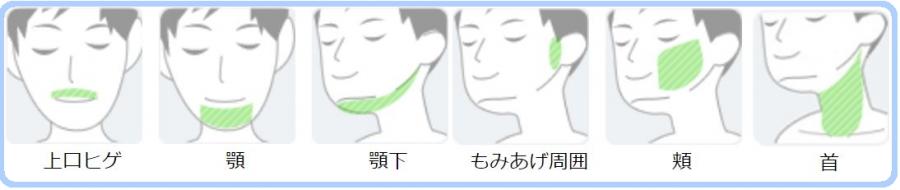 ひげ部位説明